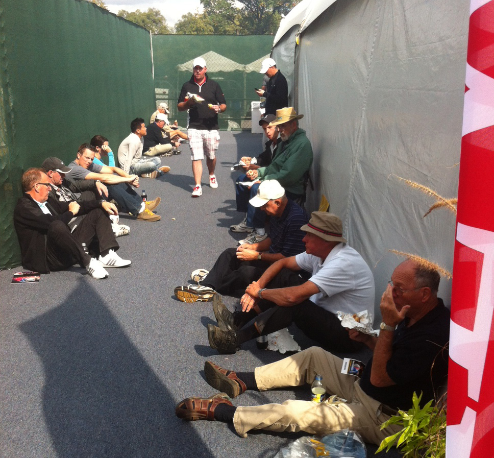 Dignified eating is key at the Ryder Cup. (WBEZ/Andrew Gill)