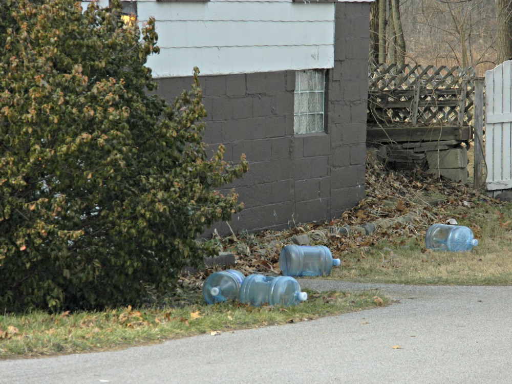 Some Pines residents have been drinking and cooking with bottled water for almost ten years. (WBEZ/Lewis Wallace)