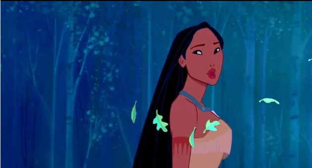 A still from the Disney film 'Pocahontas'