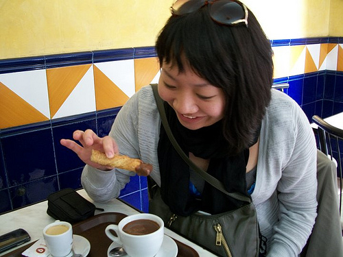 Our question asker Rachel Kimura enjoying some diner fare. (Courtesy Rachel Kimura)