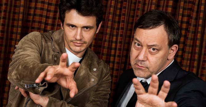 James Franco, left, with director Sam Raimi, right. (AP)