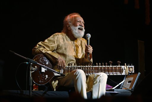 Ravi Shankar in February 2012 (AP Photo/Aijaz Rahi, File)