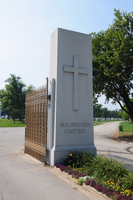 Resurrection Cemetery is the resting place of Resurrection Mary, Chicago's most legitimate ghost story. (Flickr/pkize)
