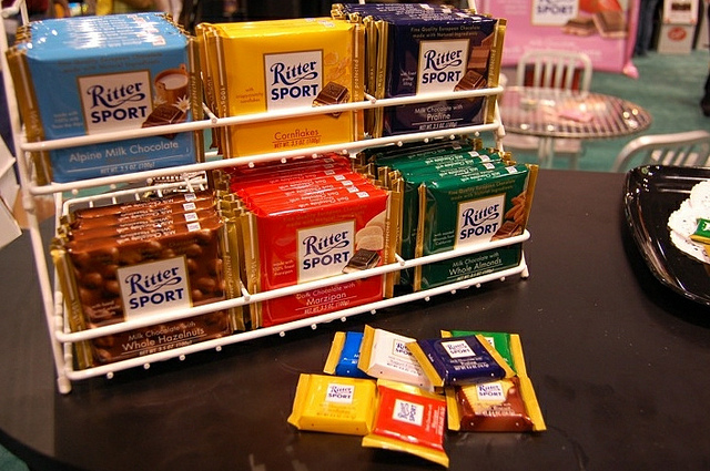 Ritter Sport full-size and mini bars (WBEZ/Louisa Chu)