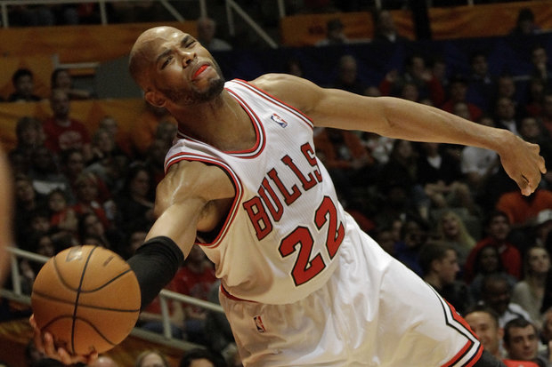 Taj Gibson is an important cog to the Bulls this pre-season. (AP Photo/Seth Perlman)