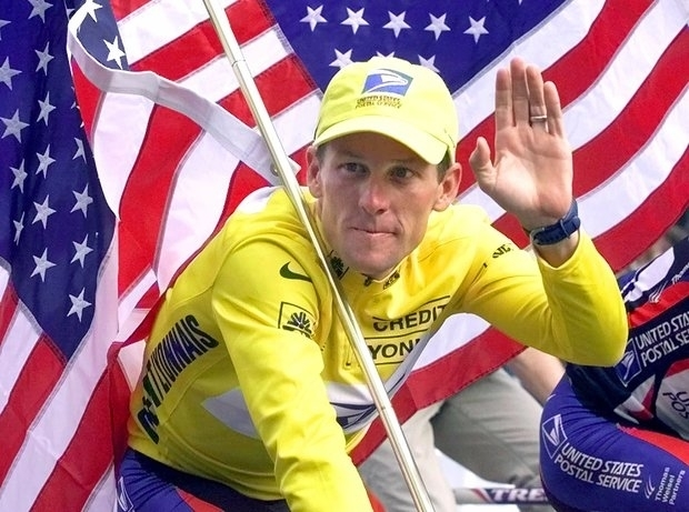 Lance Armstrong has the sports spotlight for cheating...for now.(AP Photo/Laurent Rebouris)