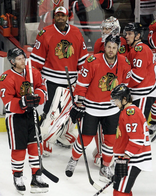 Blackhawks hope to get on the ice soon.(AP Photo/Nam Y. Huh)