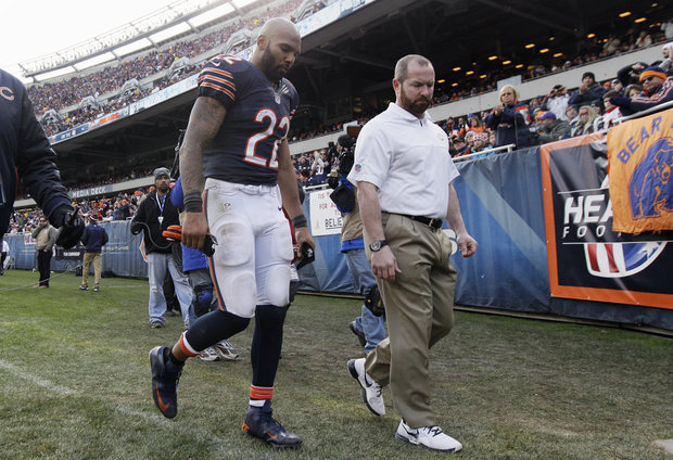 Matt Forte-one of many Bears injured in the win over Minnesota. (AP Photo/Nam Y. Huh)