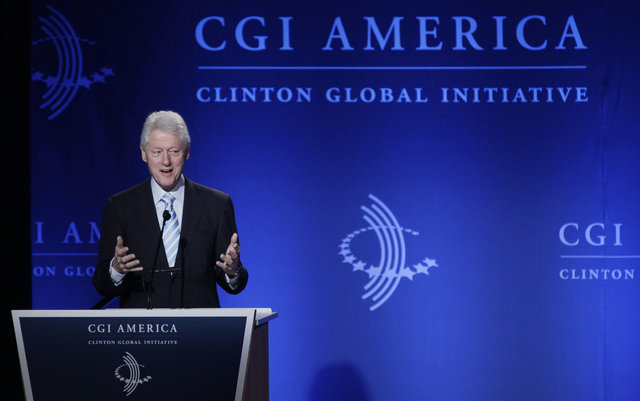 President Clinton at the CGI Meeting in Chicago in June (AP PhotoM. Spencer Green)