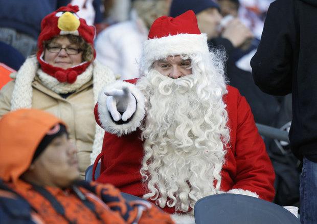 Santa has a long list from the Bears this year.(AP Photo/Nam Y. Huh)