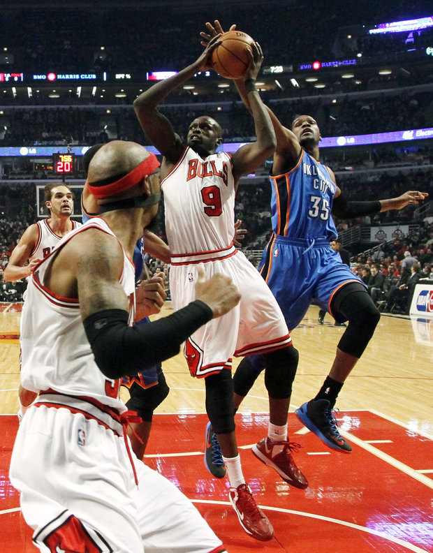 Bulls travel for days with the circus in town. (AP Photo/Charles Rex Arbogast)