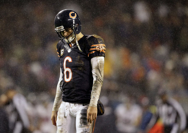 Jay Cutler's concussion has been a hot topic this week. (AP Photo/Nam Y.Huh)