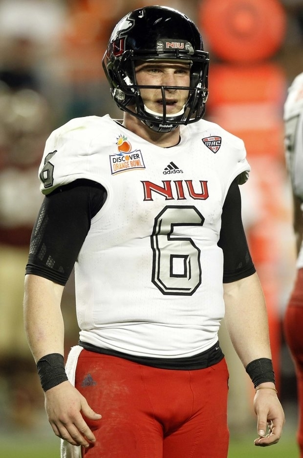NIU quarterback Jordan Lynch was limited in the Orange Bowl. (AP Photo/Alan Diaz)