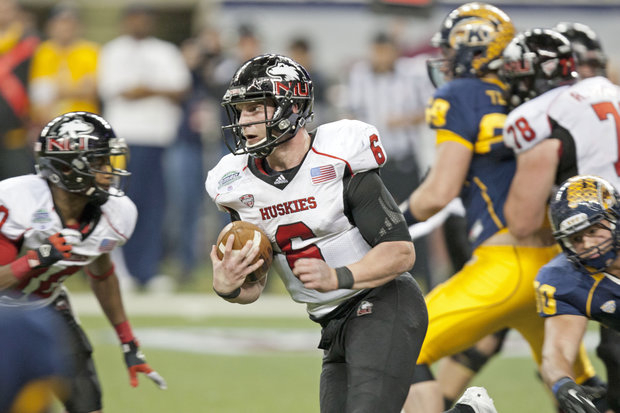 NIU QB Jordan Lynch set the NCAA rushing yards in a season by a quarterback.(NIU Media Services)