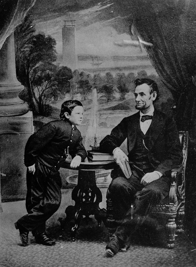 Abraham Lincoln Poses with son Tad (AP PhotoFile)
