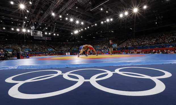 Looks like the IOC has pinned wrestling. (AP Photo/Paul Sancya)