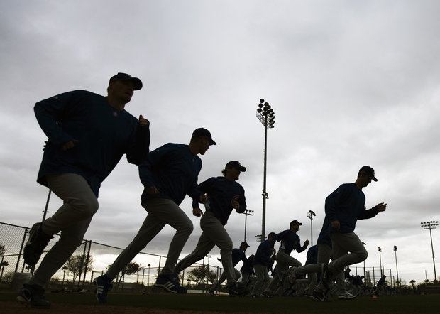 Spring training gears up next week. (AP Photo/Morry Gash)