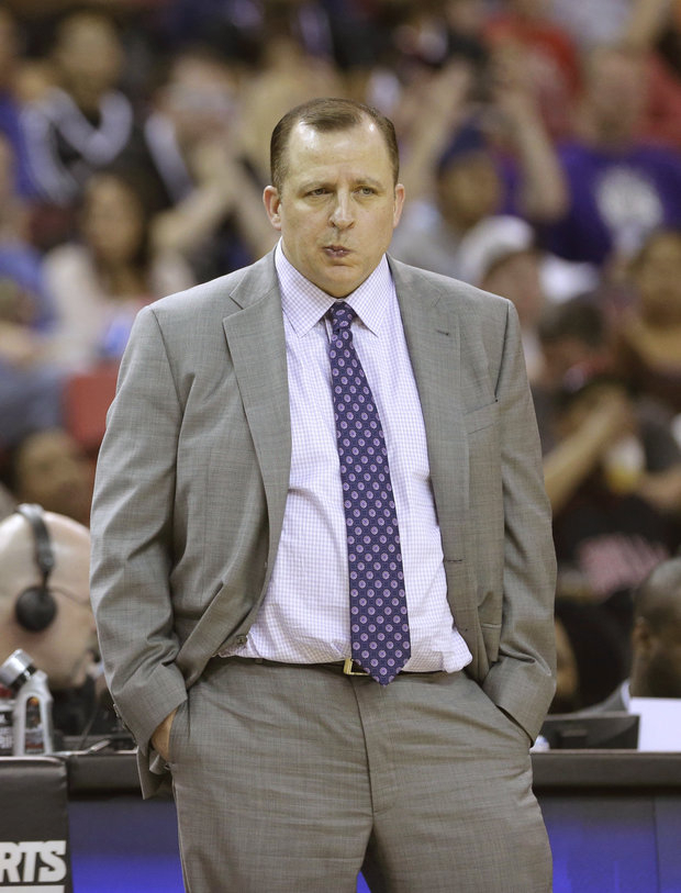 Life has not been easy for Bulls coach Tom Thibodeau. (AP/File)