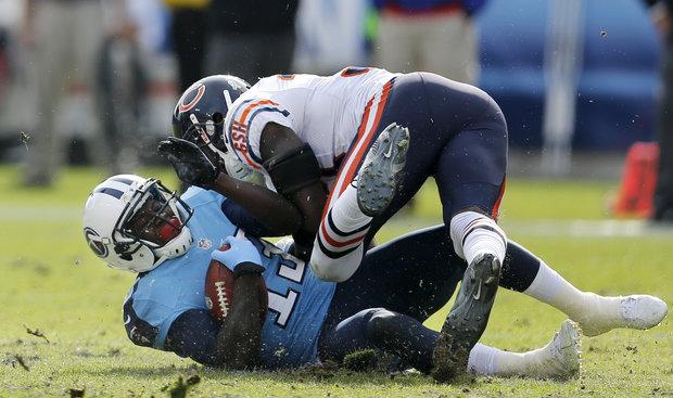 Bears Charles Tillman has had a monster first half. (AP Photo/Joe Howell)