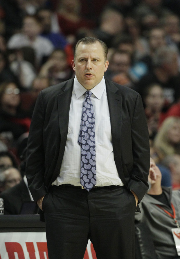 Tom Thibodeau's team are expected to defend to succeed.(AP Photo/ Nam Y. Huh)