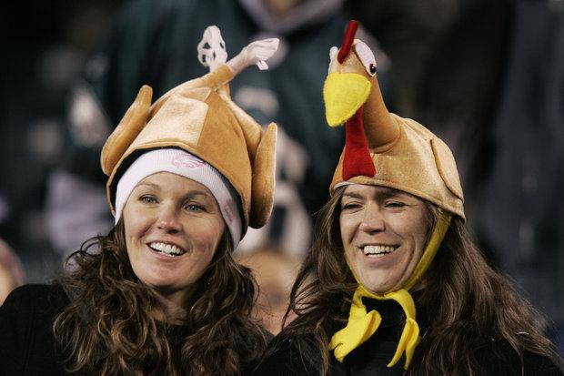 Spost fans enjoy the NFL on Thanksgiving.(AP Photo/Mel Evans)