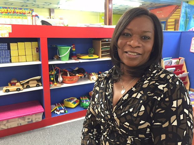 Sandifer Thomas owns and operates two daycare facilities in the South Suburbs. Many of the families she cares for have not been notified whether they qualify for subsidies. (Susie An/WBEZ)