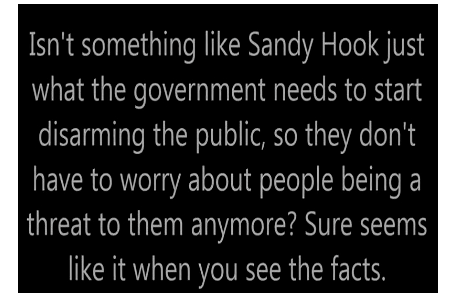 (Text from conspiracy websites about Sandy Hook)