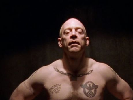 Simmons as a Nazi gangleader in 'Oz.'