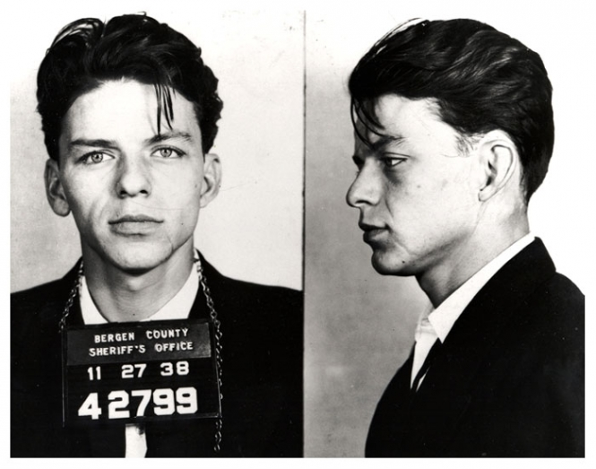 Frank Sinatra's infamous 1938 mug shot. He knew a thing or two about juvenile delinquents.