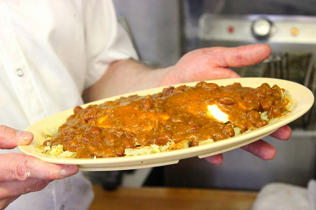 The Slinger at Diner Grill in Chicago (WBEZ/Louisa Chu)