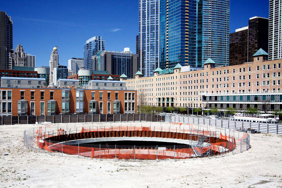 The ill-fated Chicago Spire was supposed to be the tallest building in the western hemisphere. (Flickr/Marcin Wichary)