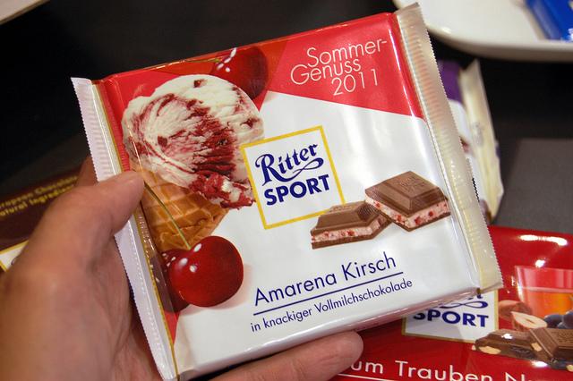 Ritter Sport Amarena Kirsch (WBEZ/Louisa Chu)
