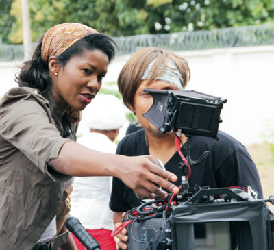 Director Stephanie Linus on the set of Dry. (Courtesy of Next Page Productions)
