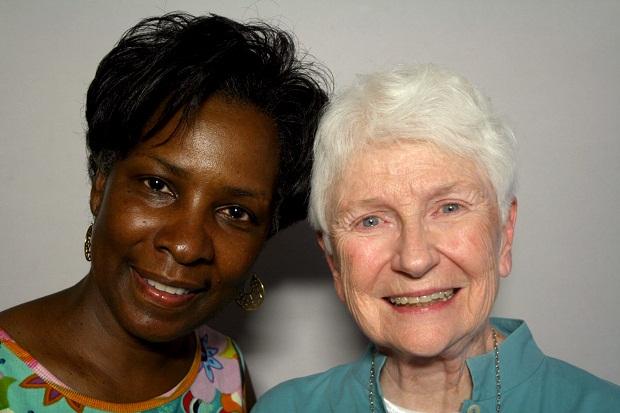 (StoryCorps/Erin Dickey) Denise D. Ferguson and Sister Joan O'Shea