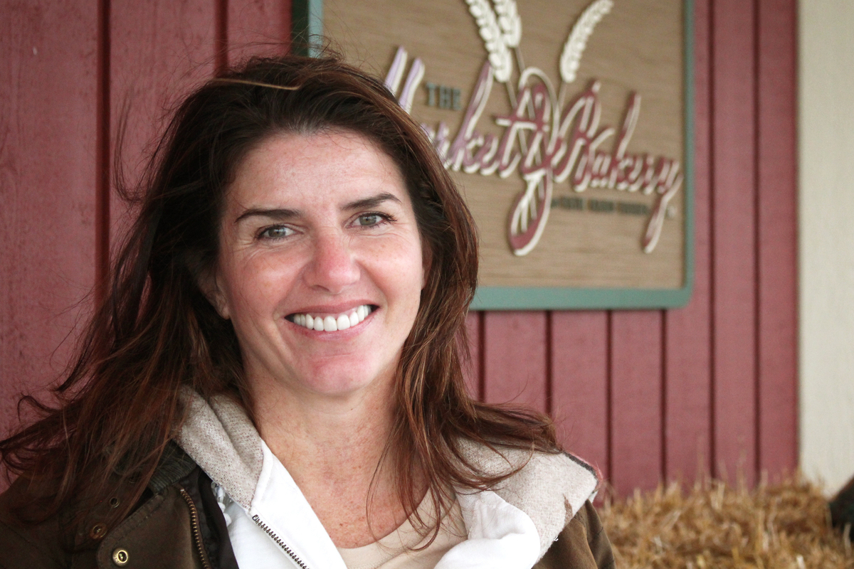 Sue McCloskey co-founded Fair Oaks Farms with her husband, Mike. Dan Charles/NPR