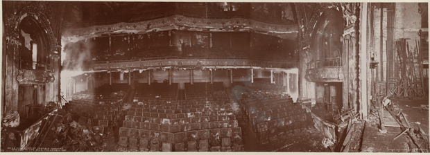 The Iroquois Theater after the fire. (Photo courtesy Library of Congress)