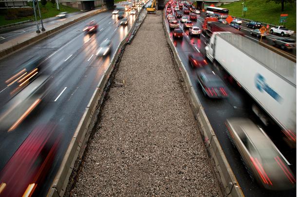 Traffic on I-94 from the Van Buren street bridge. (John Caruso via Flickr)