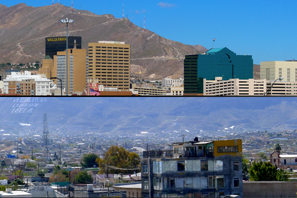 El Paso, Texas, and Ciudad Juárez, Chihuahua. (WBEZ/Chip Mitchell)