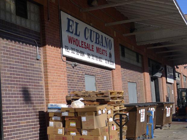A meat warehouse on West Fulton Market (WBEZ/Natalie Moore)