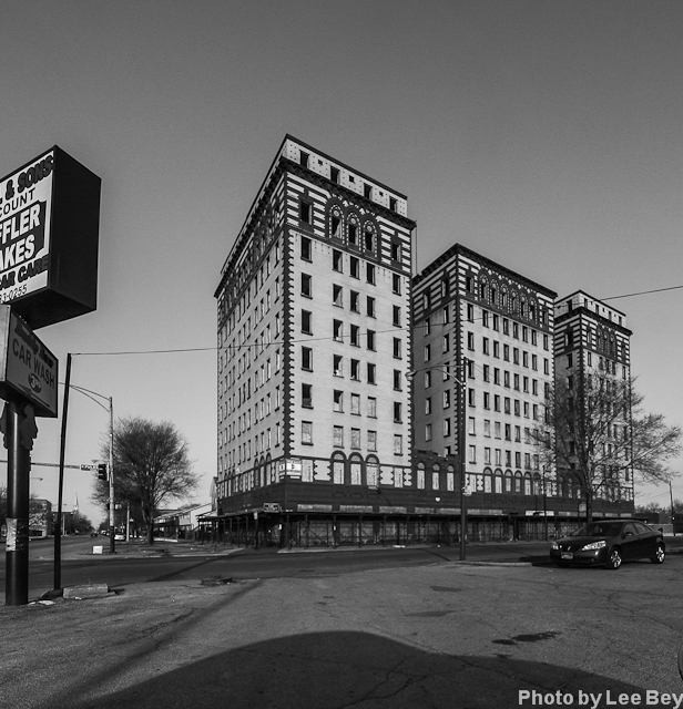 The vacant Hotel Guyon on Chicago's West Side is on Landmarks Illinois' list of the state's most endangered buildings. (WBEZ/Lee Bey)