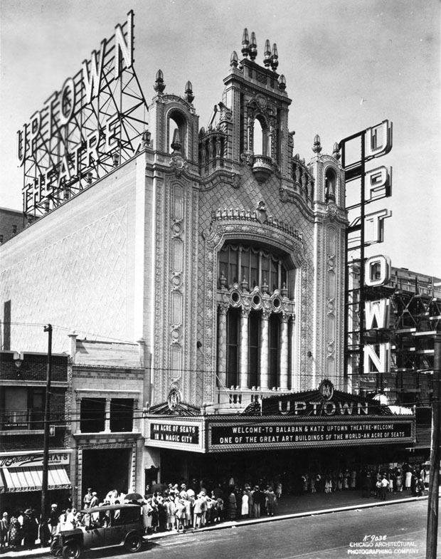 Chicago's Uptown Theater advertised itself as having an acre of seats. (Image courtesy of Theatre Historical Society of America)