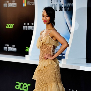 """Zoe Saldana at the premiere of """"Star Trek Into Darkness."""" (Getty Images)"""