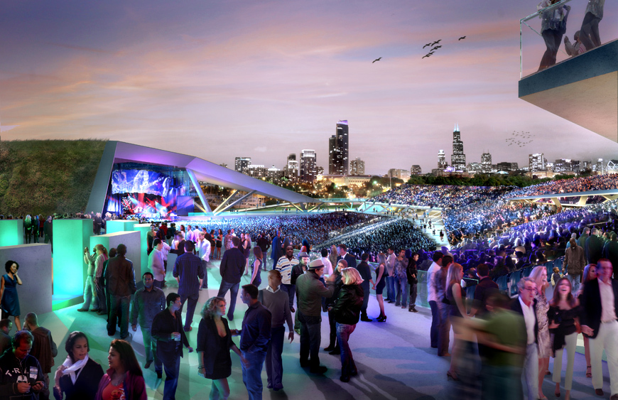 The city's plan for a permanent concert venue. (Studio Gang Architects)