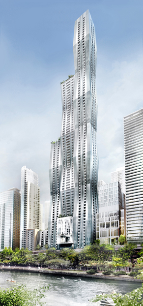 A rendering of the proposed Wanda Vista development. (Courtesy City of Chicago)