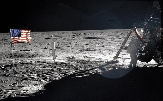Neil Armstrong on the moon (AP Photo/NASA, Buzz Aldrin)