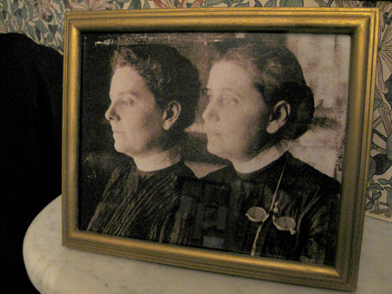 A photograph of Jane Addams and Mary Rozet Smith inside the Hull-House Museum. (WBEZ/Jennifer Brandel)
