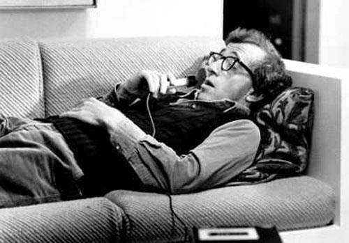 Woody Allen talks to an analyst in