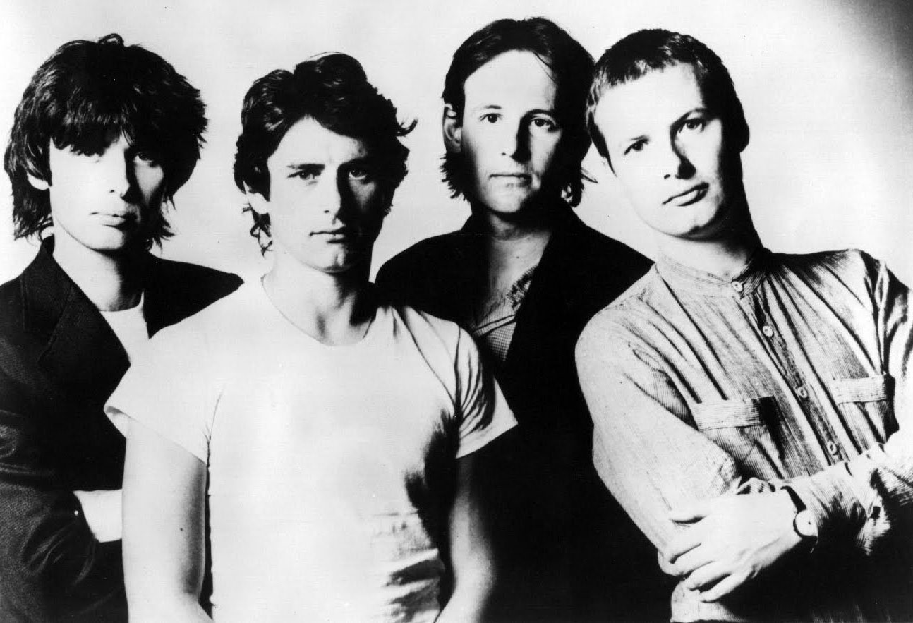 XTC in the early '80s: Moulding, Chambers, Gregory, Partridge (Virgin Records).