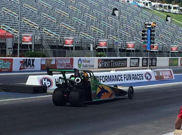 Ryan Jackson competing at Bristol Dragway