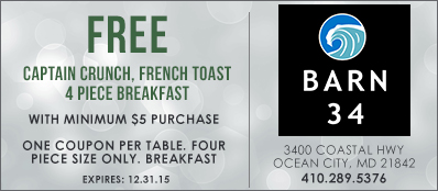 Barn 34 Coupon: Free Captain Crunch French Toast